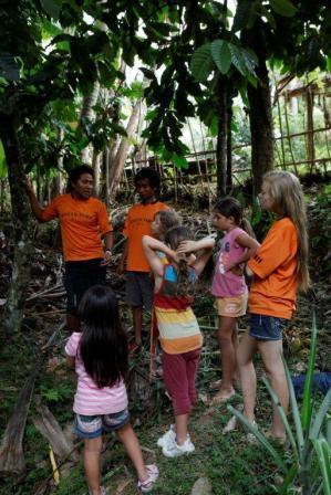 greenschool   カカオの実を取りに森へ