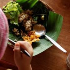 greenschool   バナナの葉の器